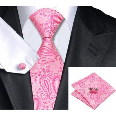 Мужской набор: галстук, запонки, платок АБЕЛАРД