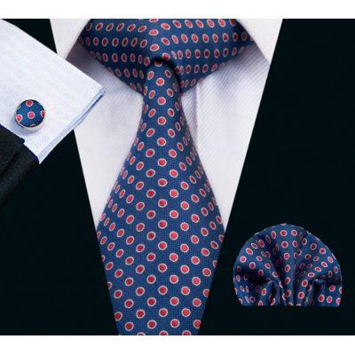 Мужской набор: галстук, запонки, платок АГИДИУС
