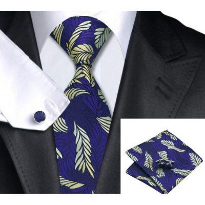 Мужской набор: галстук, запонки, платок АДАЛРИК