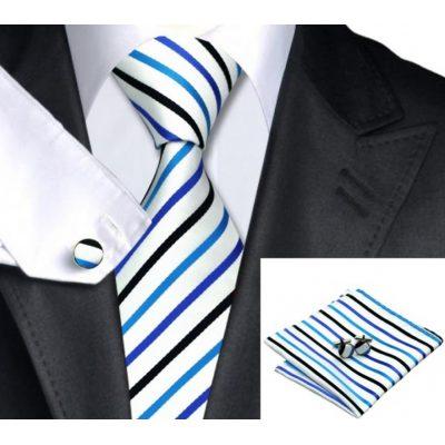 Мужской набор: галстук, запонки, платок БАРТОЛОМЕО