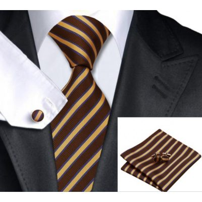 Мужской набор: галстук, запонки, платок ИЗИДОР