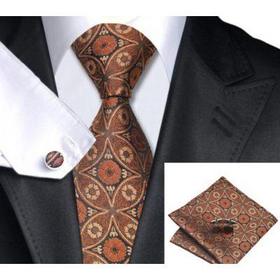 Мужской набор: галстук, запонки, платок КЛЕМЕНС