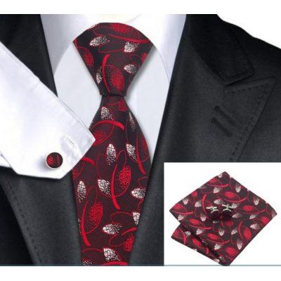 Мужской набор: галстук, запонки, платок КОНРАД