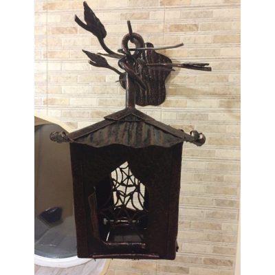 Кованный настенный светильник ПАУТИНА
