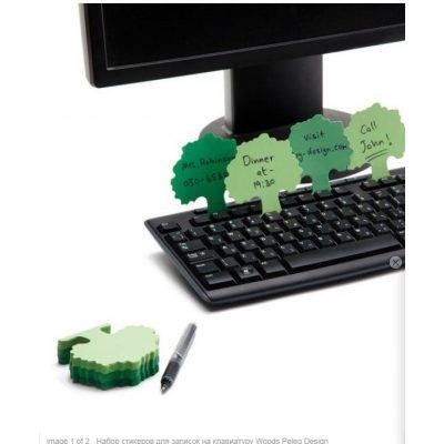 Набор стикеров для записок на клавиатуру WOODS