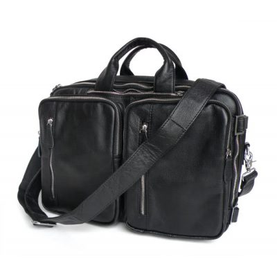Сумка-рюкзак кожаная J&M Black Comfort