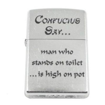 Зажигалка Zippo CONFUCIUS Say...