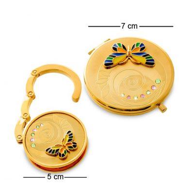 Женский подарочный набор БАБОЧКА золото