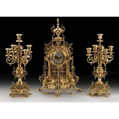 Набор VIRTUS ELEGANTE Часы настольные и канделябры