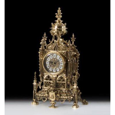 Набор VIRTUS BELLO Часы настольные и канделябры
