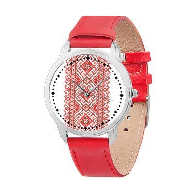 Часы наручные ЭКСКЛЮЗИВ Вышиванка красная