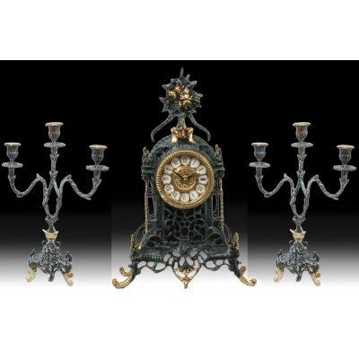 Набор VIRTUS MIRACOLO Часы настольные и канделябры