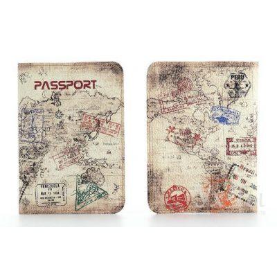 Обложка для паспорта из нат. кожи ПУТЕШЕСТВЕННИК