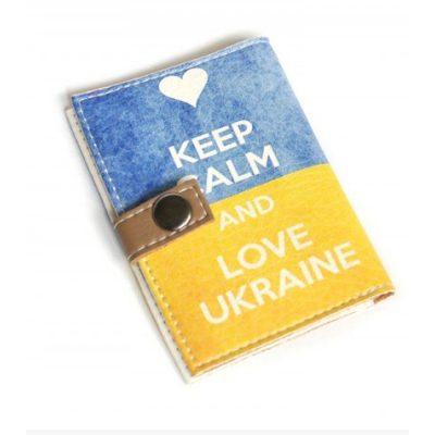 Обложка для ID паспорта LOVE UKRAINE