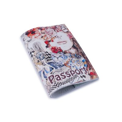 Обложка для паспорта АЛИСА в СТРАНЕ ЧУДЕС