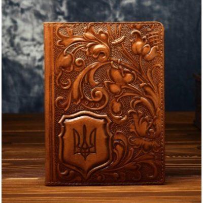Обложка для паспорта из нат. кожи УКРАИНЦА