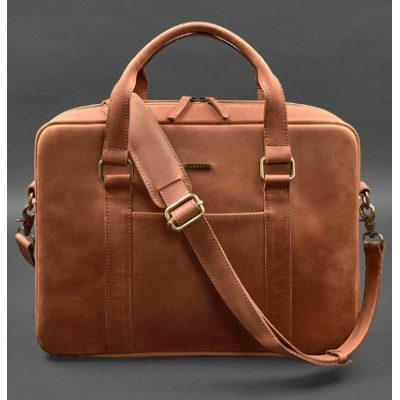 Мужская кожаная сумка TIDING BAG BLACK