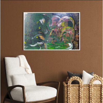 Интерьерная картина на стекле Марка ЛЮБОВЬ
