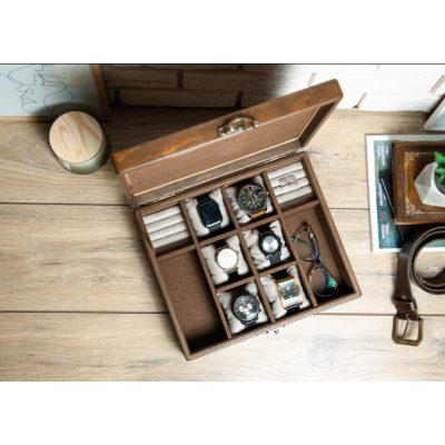 Коробка для часов из дерева на 4 отделения DABO Hetch DS1