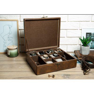 Шкатулка камердинер для часов и аксессуаров Hetch DS14