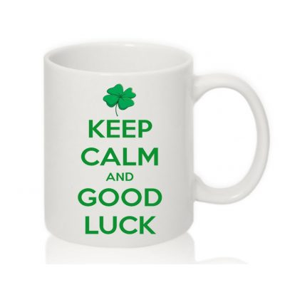 Чашка с надписью KEEP CALM and GOOD LUCK