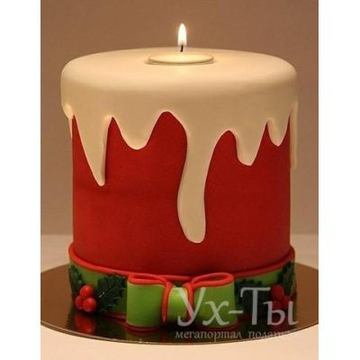 Торт 'Новогодняя свеча'