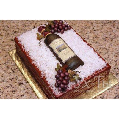 Торт 'Бутылка вина'