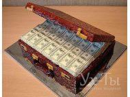 Торт 'Сундук денег'