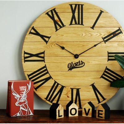 Настенные часы Деревянные KANSAS GOLD