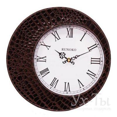Кожаные часы Runoco 'Круг'