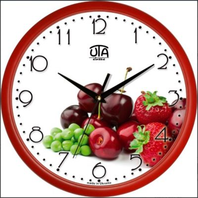 Акриловые часы ЯГОДЫ
