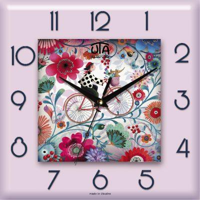 Картина-часы ЦВЕТОЧНЫЙ УЗОР