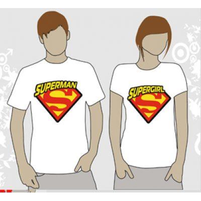Футболка Парная SUPERMAN. SUPERGIRL