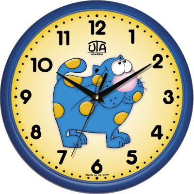 Акриловые часы КОТИК