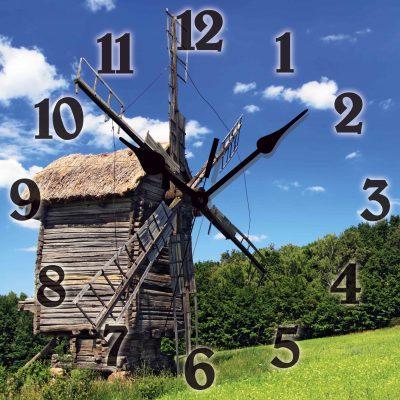 Часы-картина МЕЛЬНИЦА