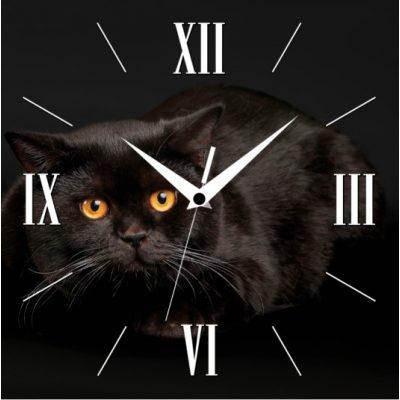 Часы-картина ЧЕРНЫЙ КОТ