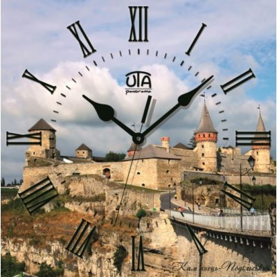 Картина-часы ЗАМОК КАМЯНЕЦ-ПОДОЛЬСКИЙ