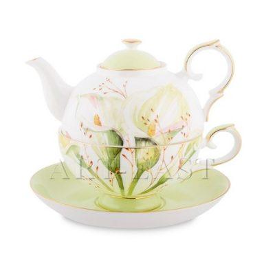 Чайный набор КАЛЛА (костяной фарфор)