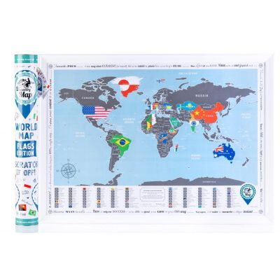 Скретч-карта DISCOVERY MAP WORLD FLAGS  EDITION