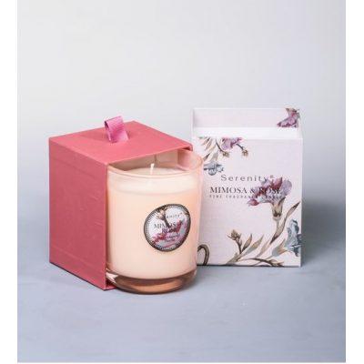 Свеча ароматизированная МИМОЗА и РОЗЫ