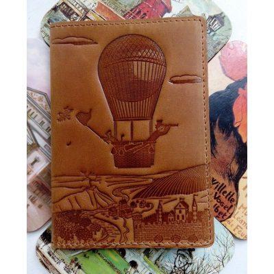 Обложка для паспорта из кожи ВОЗДУШНЫЙ ШАР