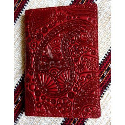 Обложка для паспорта из кожи ИНДИЙСКИЙ ОГУРЕЦ