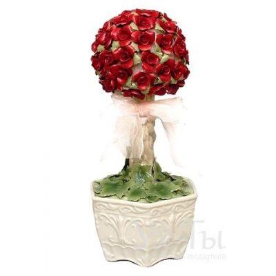 Музыкальная фигурка 'Букет алых роз'