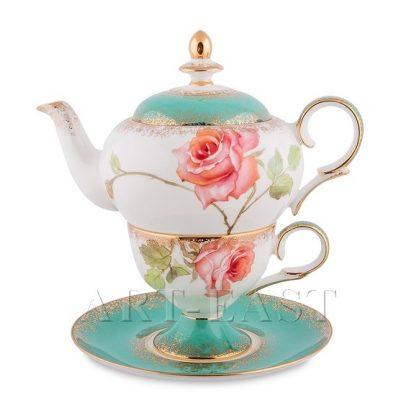 Чайный набор РОЗА (костяной фарфор)