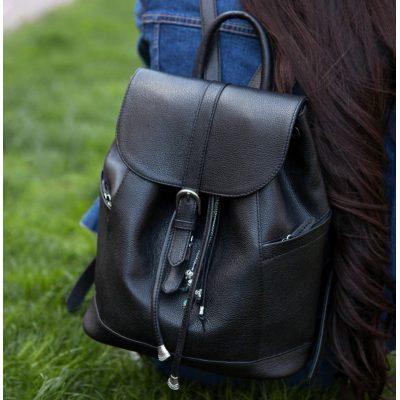 Кожаный рюкзак OLSEN оникс