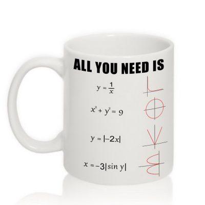 Прикольная чашка All YOU Need is LOVE
