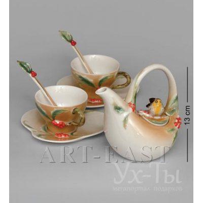 Чайный набор 'Пташка на падубе' на 2 персоны