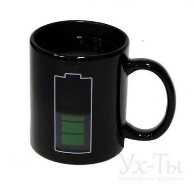 Чашка - хамелеон 'Батарейка'
