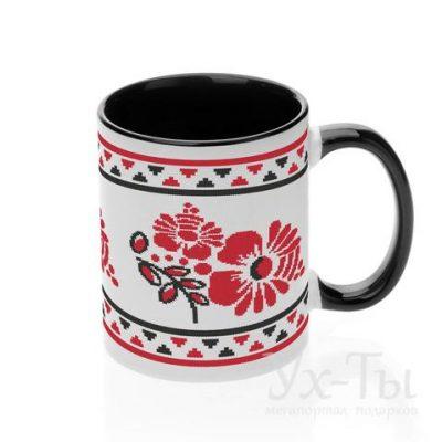 Чашка с украинским орнаментом 'Пионы'