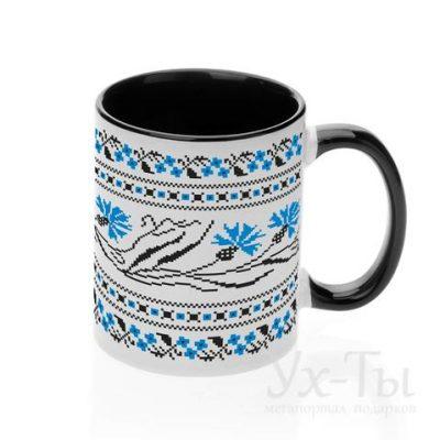 Чашка с украинским орнаментом 'Василек'